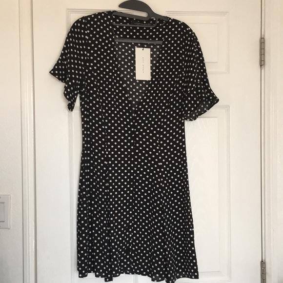 dfac463104a Zara Woman Polka Dot V Neck Wrap dress XS